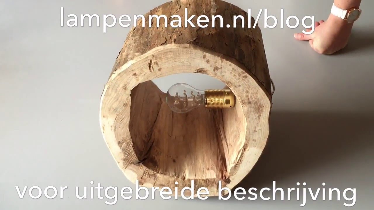 boomstronk lamp maken - YouTube