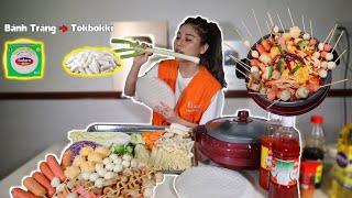 NNL Tự Làm Nồi Lẩu Tokbokki Hàn Quốc ,Từ Bánh Tráng Việt Nam , Kể Chuyện Kinh Dị