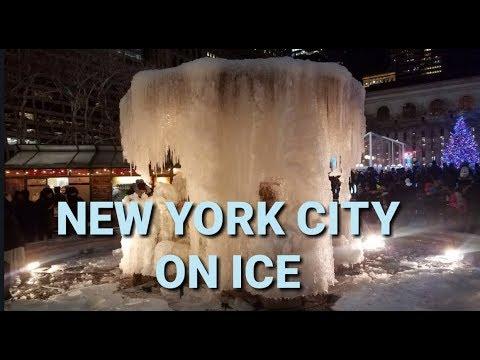 NYC On Ice - Bryant Park, Manhattan - Vlog