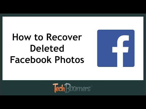 How To Recover Deleted Facebook Photos