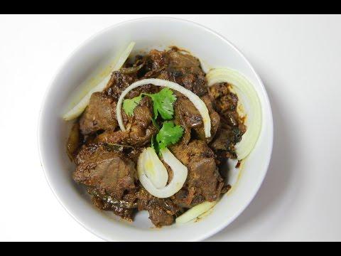 Mutton Liver Fry -  Good food to naturally increase iron / hemoglobin levels  - మటన్ లివర్ వేపుడు