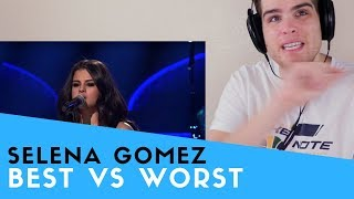 Voice Teacher Reacts to SELENA GOMEZ | BEST VS WORST VOCALS