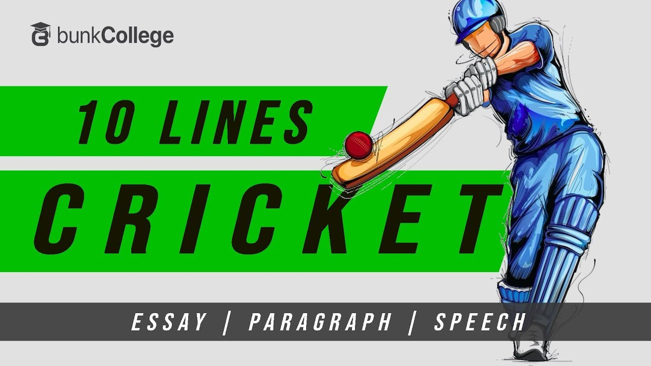 10 Lines On Cricket In English My Favourite Sport Essay Paragraph Speech Youtube
