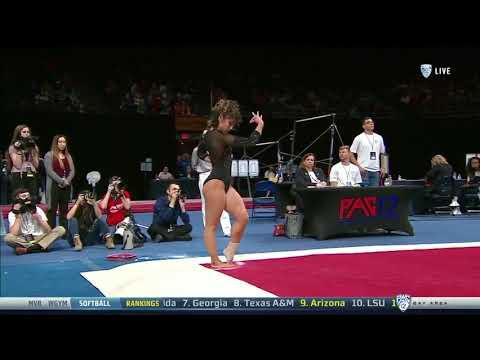 Katelyn Ohashi 2018 Floor at PAC-12 Championships 9.950