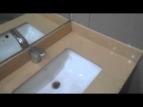 Beige Engineered Quartz Bathroom Vanity top