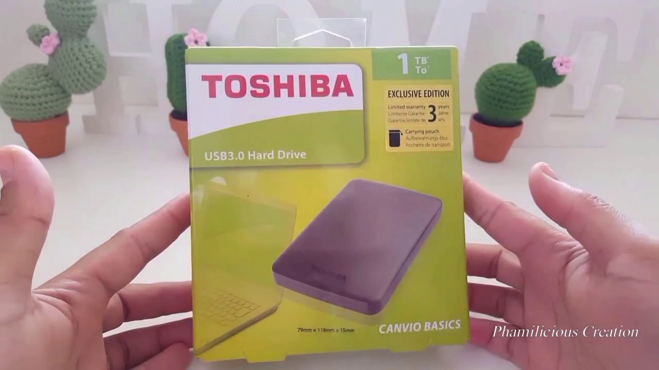 981600681 Toshiba Canvio Basics 1TB USB 3.0 Hard Drive Unboxing - YouTube