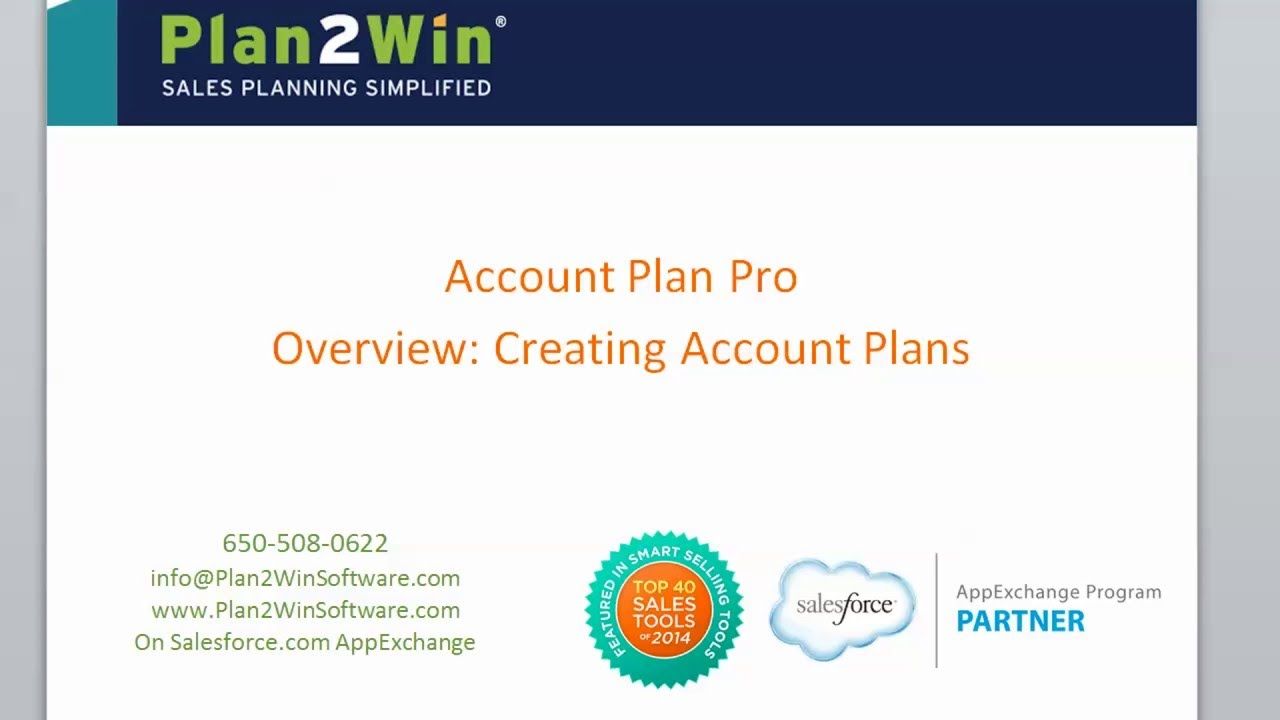 Account Plan Pro: creating an account plan - YouTube