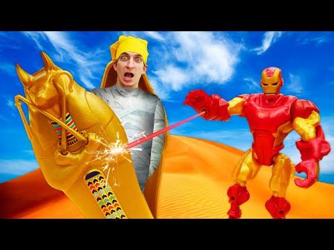 Онлайн видео шоу – Железный Человек и супергерои против Мумии! – Трансформеры игры для мальчиков.