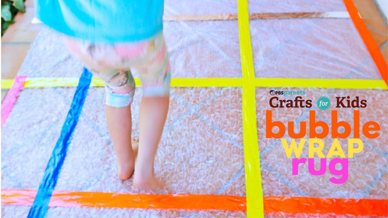 Bubble Wrap Rug | PBS Parents | Crafts