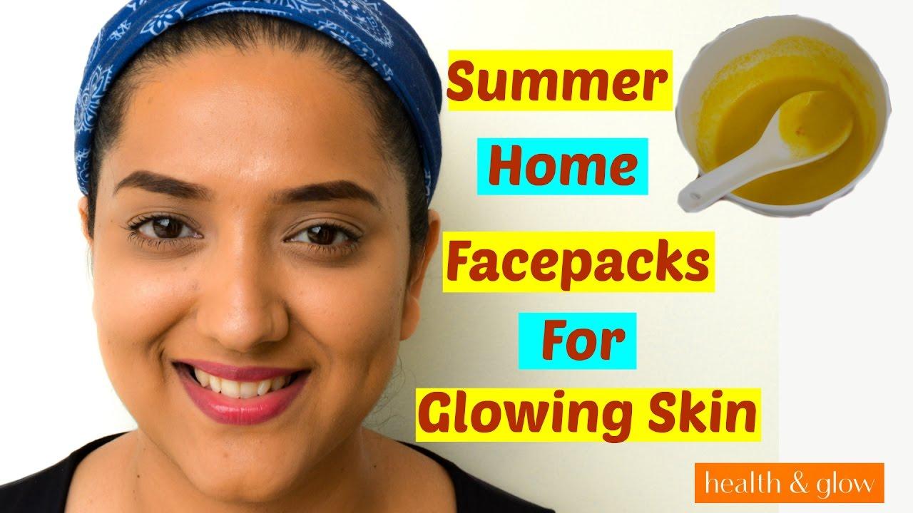 Homemade Facepacks for Glowing Skin in Summer