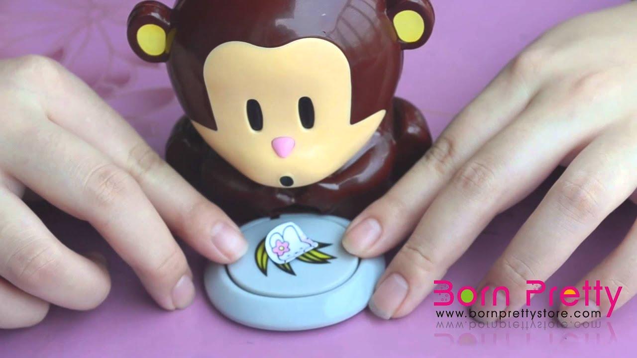 Bornprettystore cute monkey nail dryer nail art equipment youtube prinsesfo Images