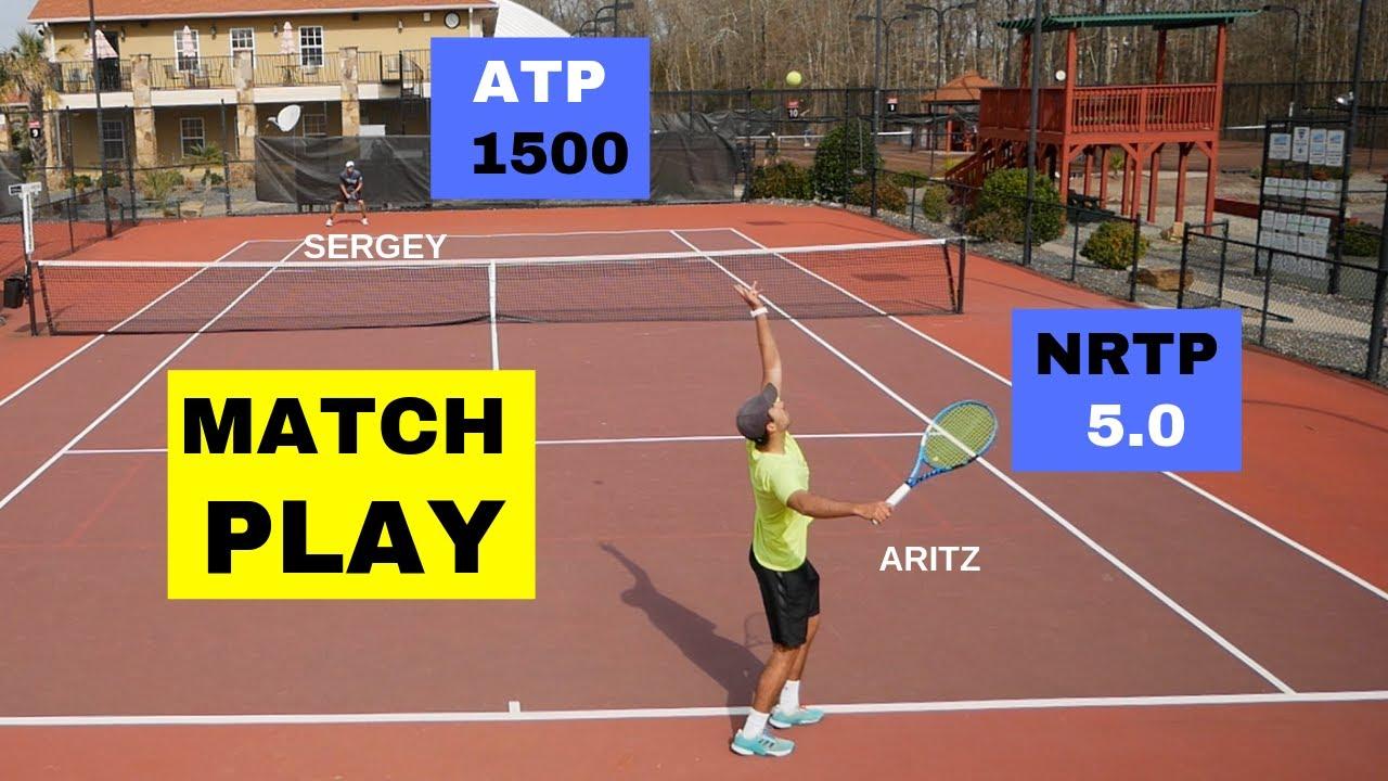 NTRP 5.0 vs. ATP 1500 Tennis Match Play - Part 1 (Aritz vs Sergey)