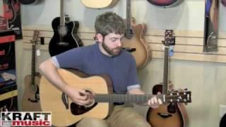 kraft music yamaha fg700s acoustic guitar demo
