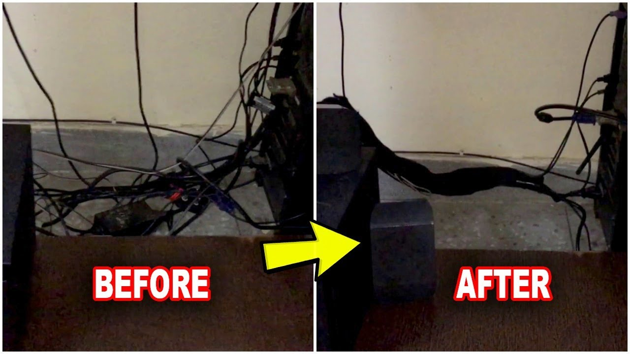 How To Hide Computer Cables Cable Management They Made My Desk Look Awesome And Easy