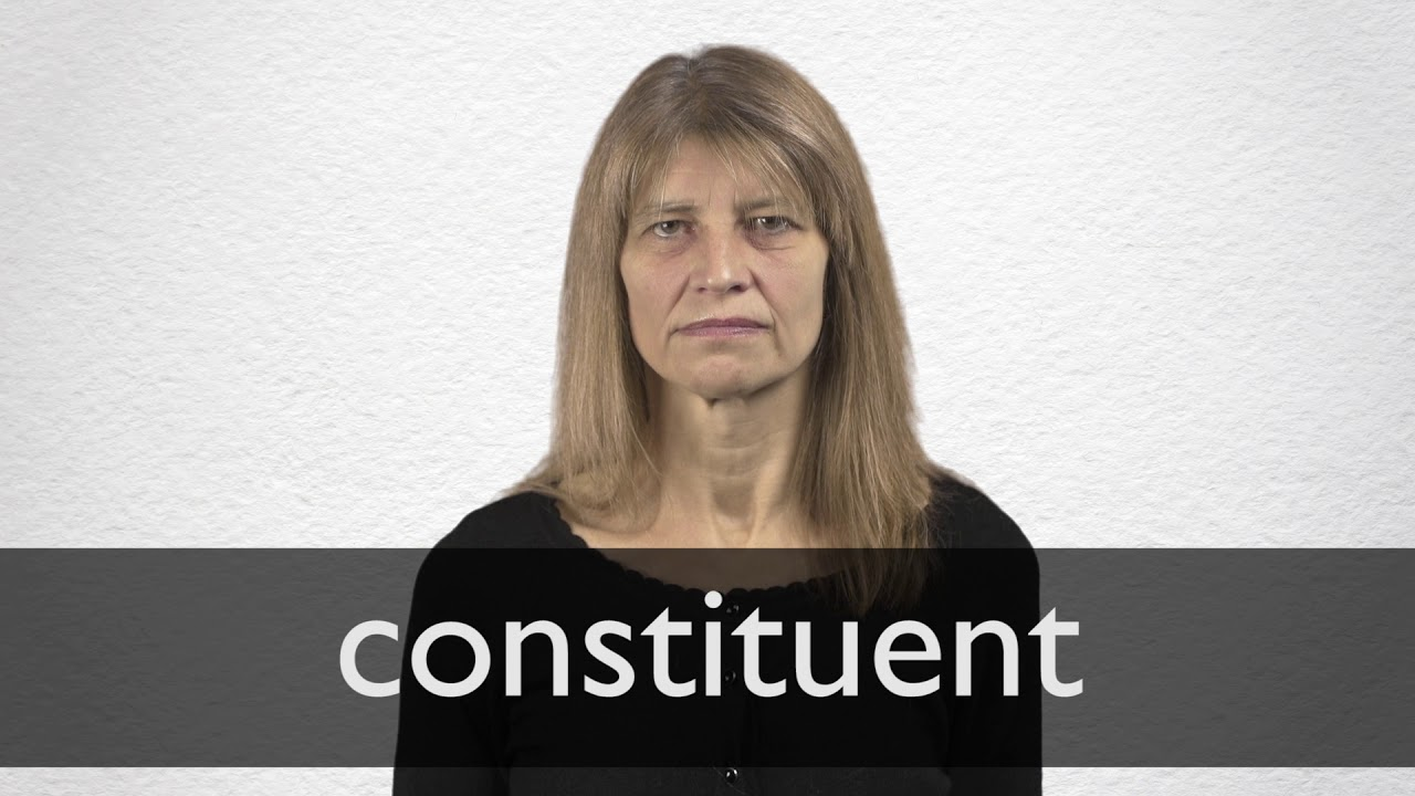 How to pronounce CONSTITUENT in British English