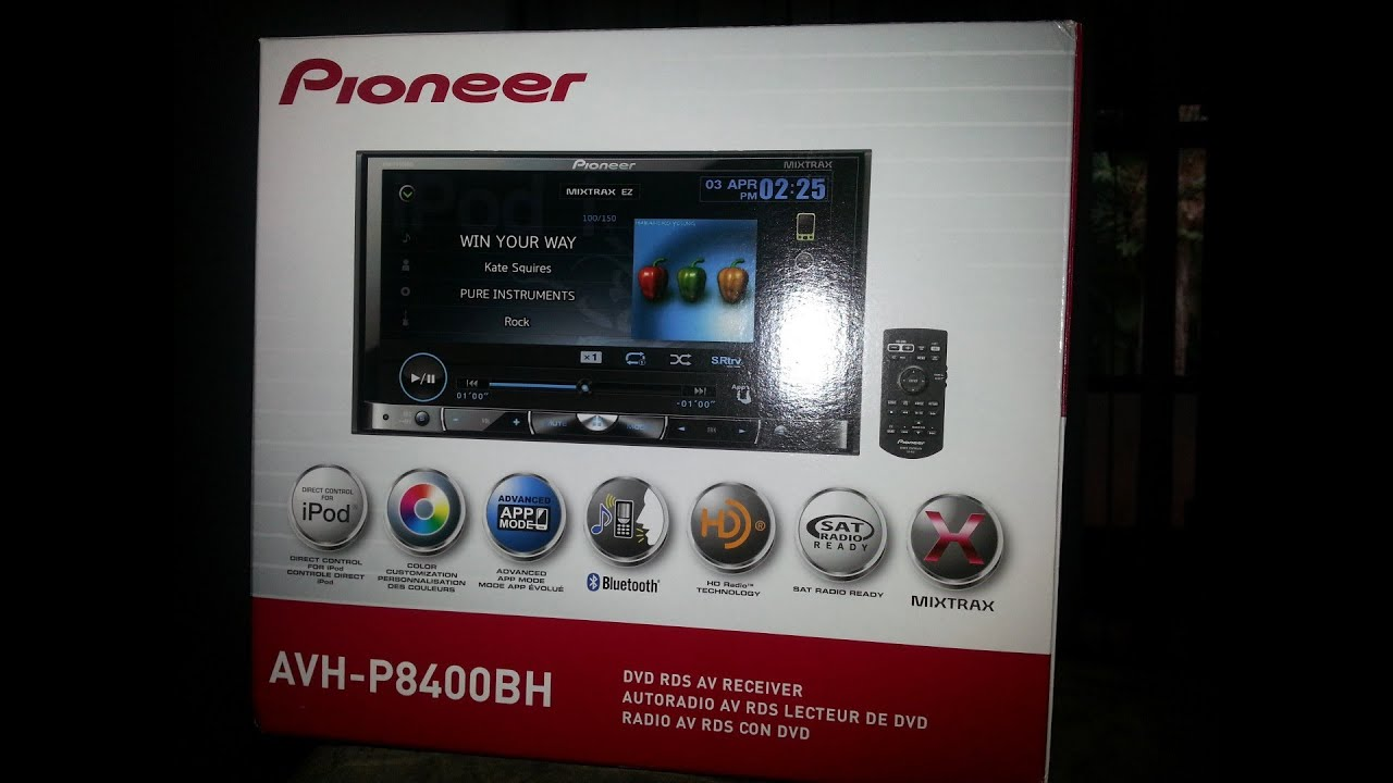 pioneer avh p8400bh unboxing install [ 1280 x 720 Pixel ]