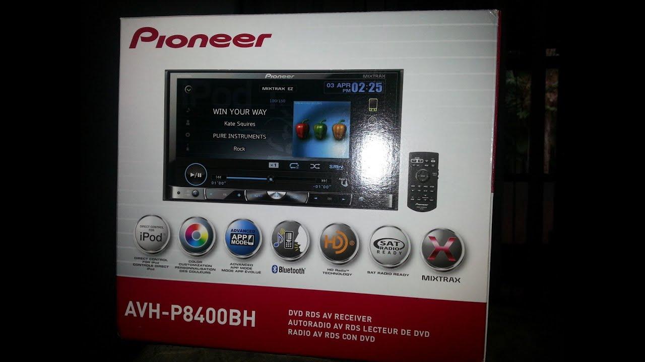 pioneer avh p8400bh unboxing install [ 1280 x 720 Pixel ]