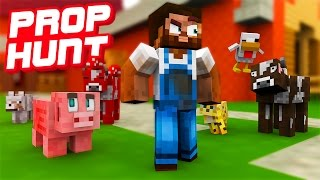 MINECRAFT FARM PROP HUNT!