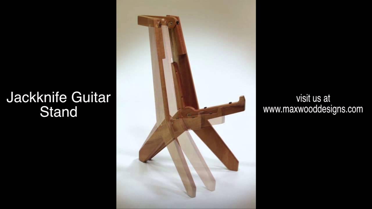 max wood designs new jackknife guitar stand youtube. Black Bedroom Furniture Sets. Home Design Ideas