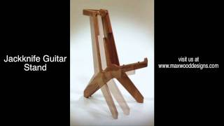 Max Wood Designs New Jackknife Guitar Stand