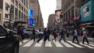 New York City 4K - Times Square - Driving Downtown  USA