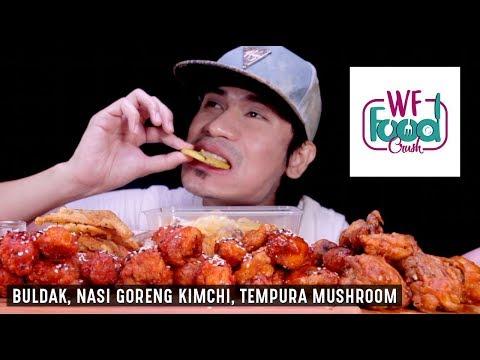 KOREAN FRIED CHICKEN, NASI GORENG KIMCHI, TEMPURA MUSHROOM | ASMR REAL SOUND EATING SHOW MALAYSIA