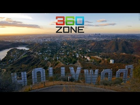 360 VR Hollywood Hills Homes:See Beachwood Drive Houses & Mansions For Sale in Hollywoodland Canyon - Видео онлайн