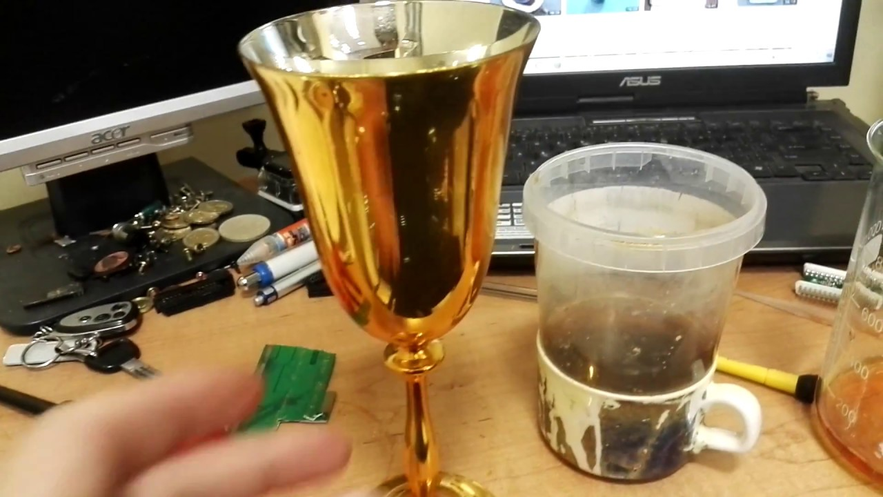 Remove Gold From Big Board And Small Plated Parts Youtube Scrap Circuit Boards Items