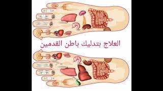 العلاج بتدليك باطن القدمين العلاج باستخدام خريطة الجسم المرسومة على بطن القدم Youtube