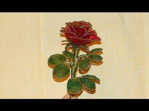 как сделать розы из бисера пошаговая инструкция - фото 10