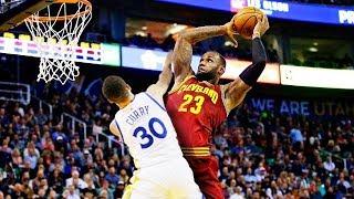 LeBron James Top 10 dunks career詹姆斯前十大暴力灌籃