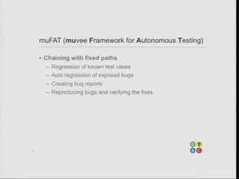 GTAC 2007: Ali Saifee - Muvee Framework for Autonomous Test