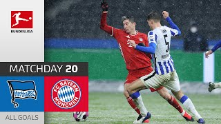 Lewy Penalty Miss in Bayern Win | Hertha Berlin - FC Bayern München | 0-1 | All Goals | MD 20