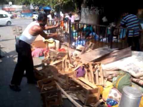 Breaking Slum Huts Mumbai