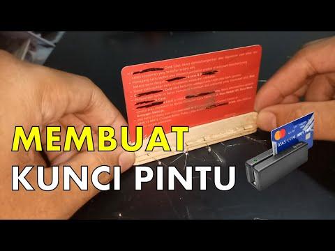 Membuat Kunci Pintu Dengan Kartu ATM Bekas