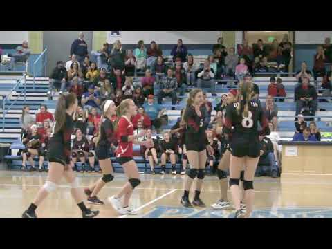 Du Quoin Middle School (DMS) vs. Murphysboro - Class L State Volleyball highlights 03-24-18