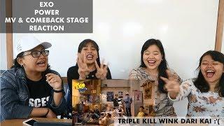 Video EXO - POWER || MV & COMEBACK STAGE Reaction (Indonesia) download MP3, 3GP, MP4, WEBM, AVI, FLV Juni 2018