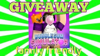 ROBLOX LIVE!! BUBBLE GUM SIMULATOR! GIVEAWAY! COME JOIN!! and MONSTER BATTLE!