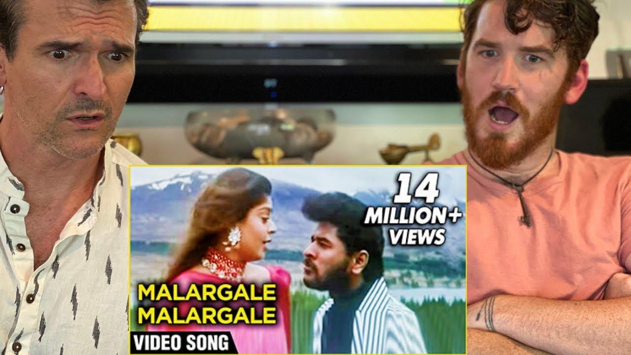 Malargale Malargale Song REACTION!! | Love Birds | Prabhu Deva| A. R. Rahman