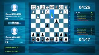 Chess Game Analysis: Guest32658926 - Guest32660481 : 0-1 (By ChessFriends.com)