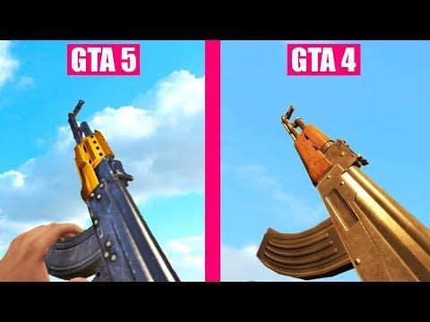 GTA 5 Gun Sounds Vs GTA 4