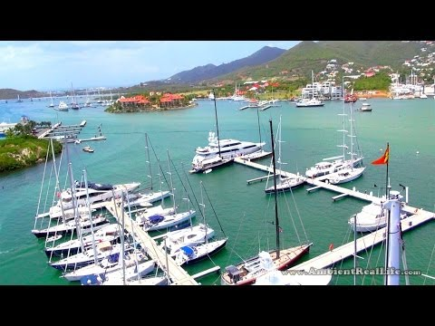 St Maarten, SXM - MikroKopter Drone Footage from above Simpson Bay Yacht Club, St Martin, CARIBBEAN!