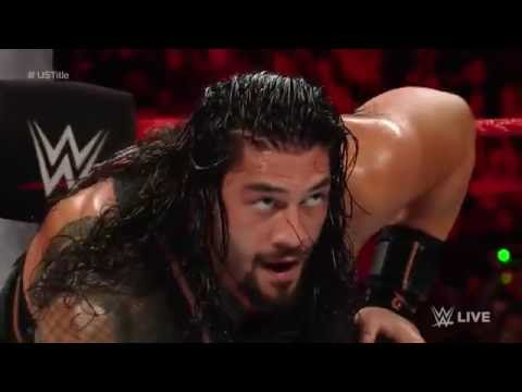 Roman Reigns vs. Rusev -  Sept. 26, 2016 United States Championship Match_ Raw,