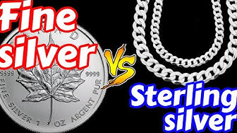 Difference Between Fine Silver And Sterling Silver