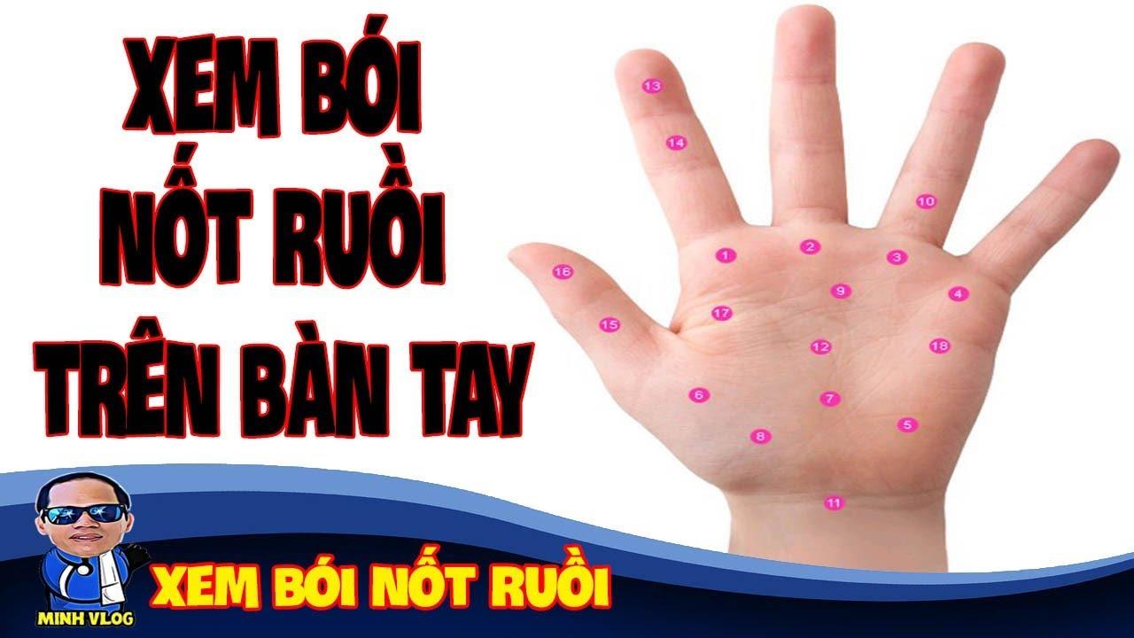 Xem bói nốt ruồi trên bàn tay – Ý nghĩa nốt ruồi trên bàn tay – Xem bói nốt ruồi