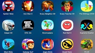 AngryBirds,RedBall4,GTASA,ShortRide,SpiderMan,IronMan,ScaryNeighbor,ScaryTeacher,