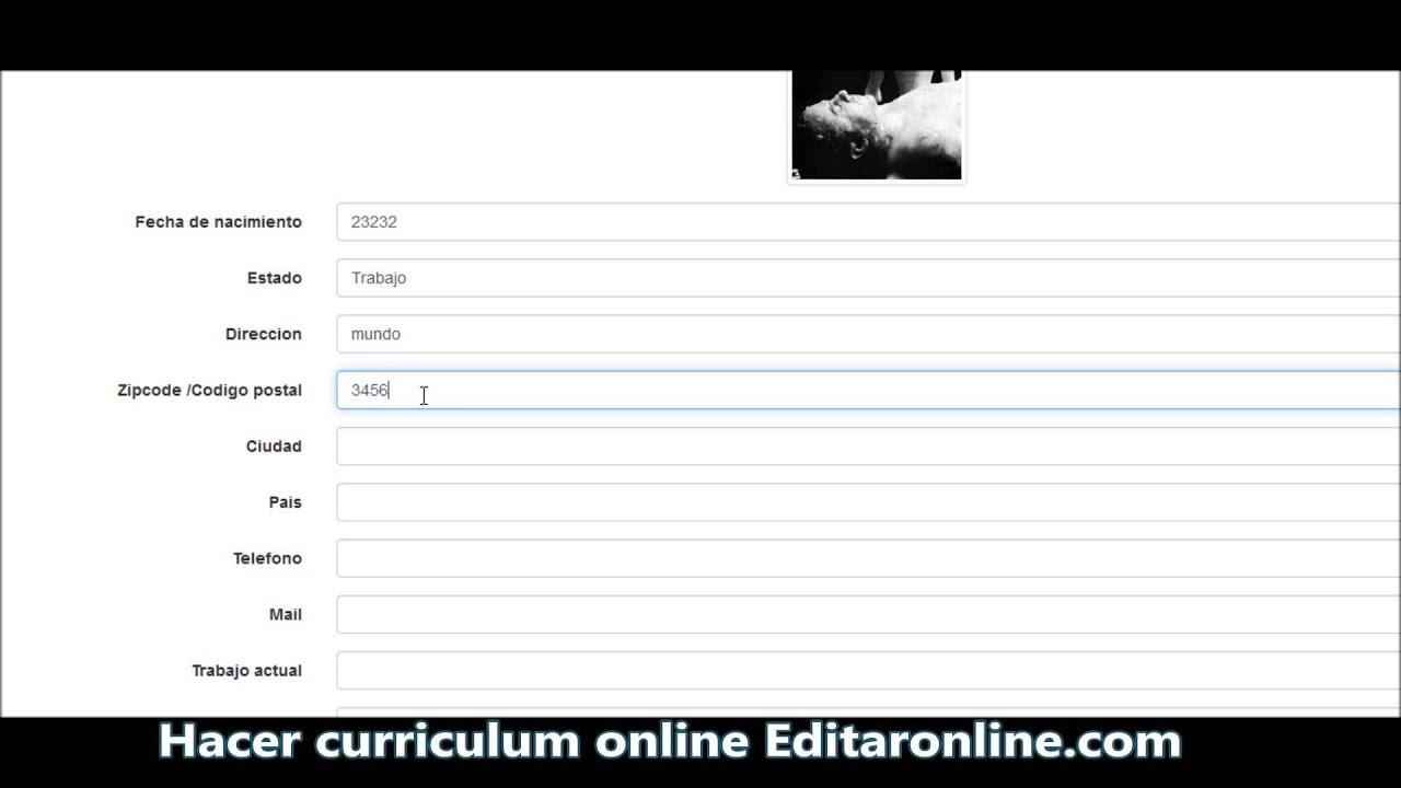 Creador de Curriculum Vitae - YouTube