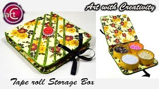 Best out of waste | Recycle | Tape roll Multi Storage Box| DIY  | Art with Creativity 215