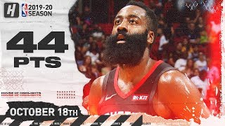 James Harden SICK Full Highlights vs Miami Heat 2019.10.18 - 44 Points, 8 Threes!