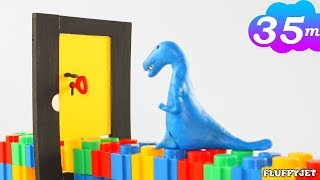 Learn Colors and Matching Game For Kids with Play dough Stop Motion Wild Animal & Surprise Egg